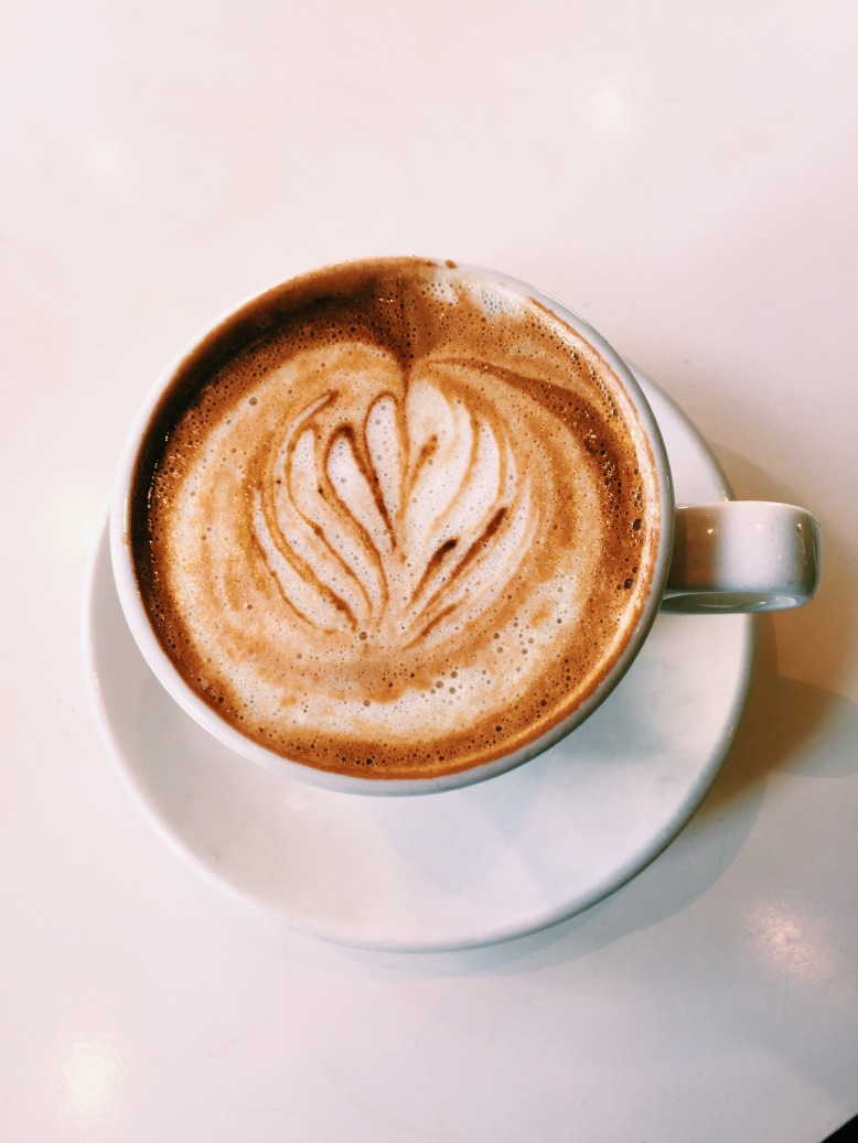 Almond Flat White - preparing myself for the British caffienated drinks I will inhale.