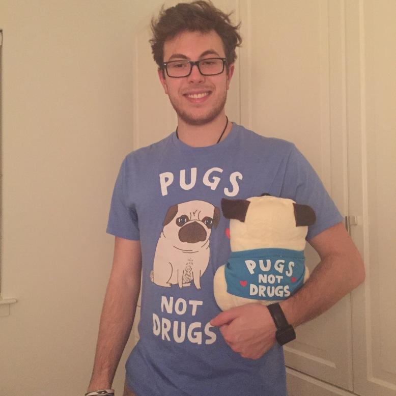 The bf with said pug.